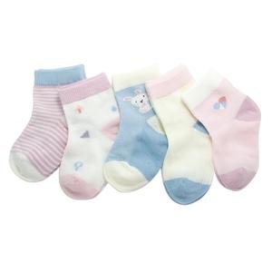 斑比童袜纯棉薄款透气春夏班比3-5-7-9岁儿童男童女童防臭网袜子