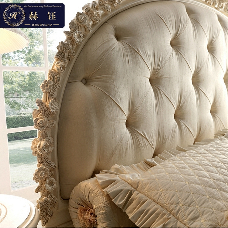 European style luxury bed carved Bed French neoclassical children bed Jane princess bed solid wood bed American double bed