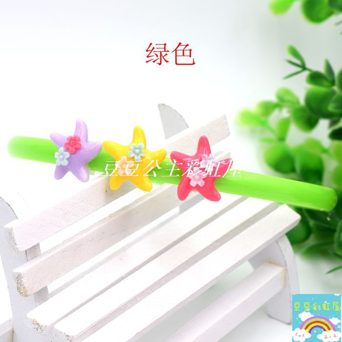 Small starfish children primary color plastic baby cartoon hoop with tooth head hoop hair clip hair headdress