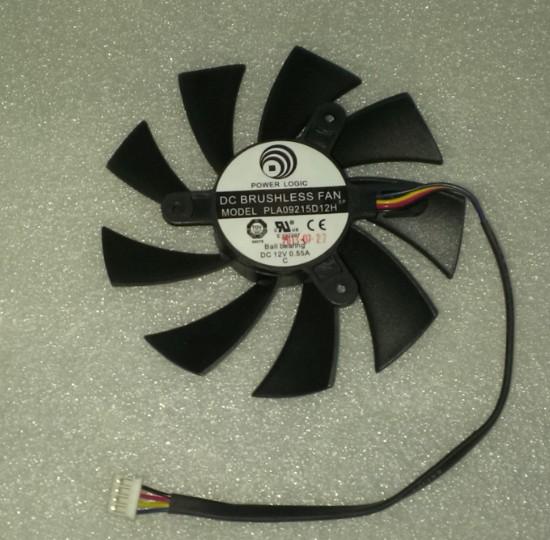 พัดลมการ์ดจอ MSI N570GTX580GTXHD6870R6790R6770 สี่สายพัดลมควบคุมอุณหภูมิ