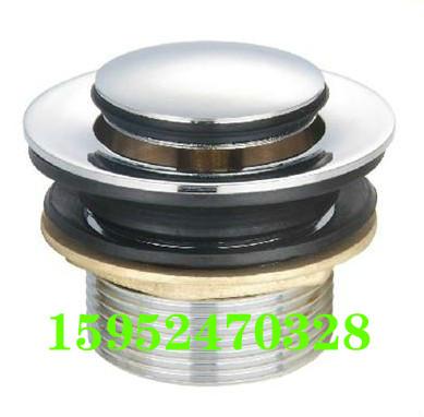 Wooden bath barrel bathtub full of copper valve water drain valve valve spring bathroom accessories shipping