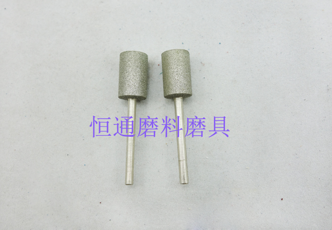 The cylindrical type diamond grinding head grinding head grinding grinding alloy electroplating diamond emery grinding 3*4-10