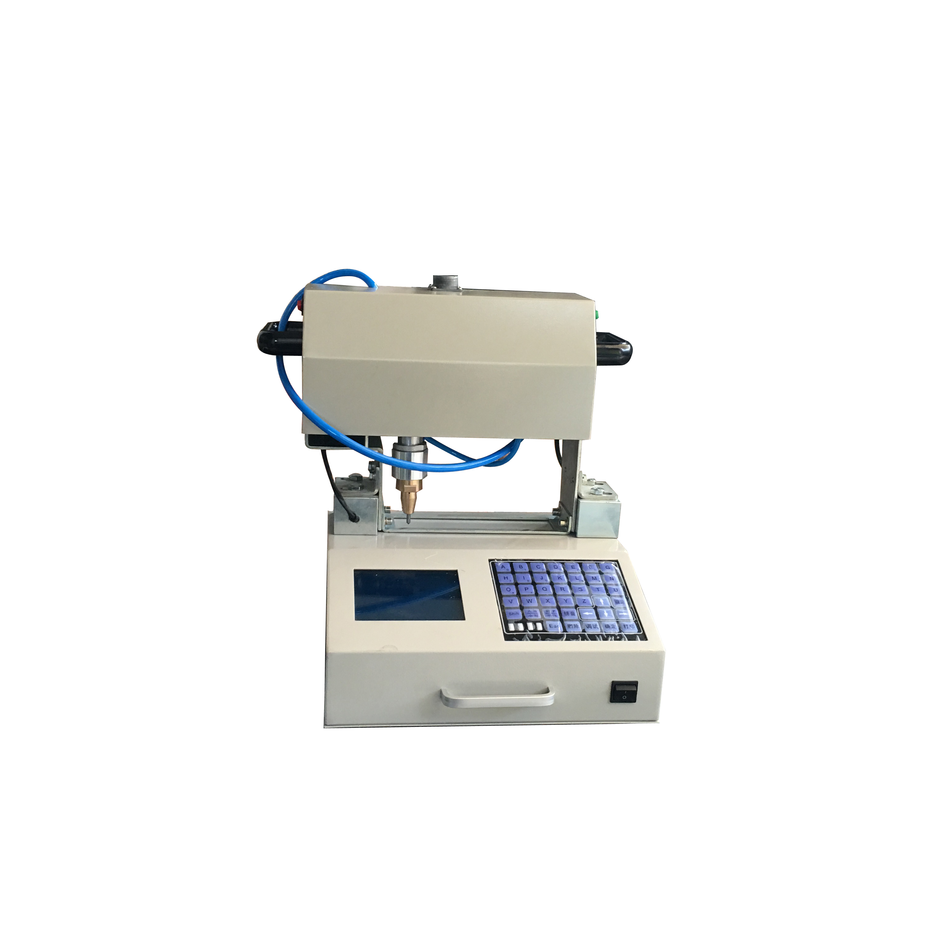 Factory direct metal printing equipment car frame number synchronous tracking pneumatic marking machine