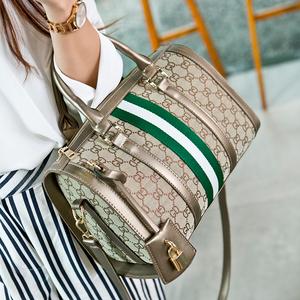 女包手提包2015新款潮波士顿包欧美时尚枕头包单肩斜挎包帆布包包