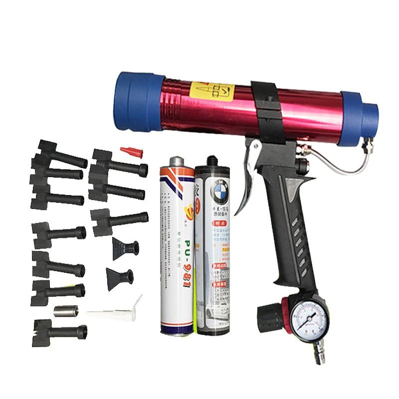 Zacht voor glas, cement en gebruik van wapens hoofd pneumatische zachte kauwgom plat hoofd geweer in de mond op mond van metaal.