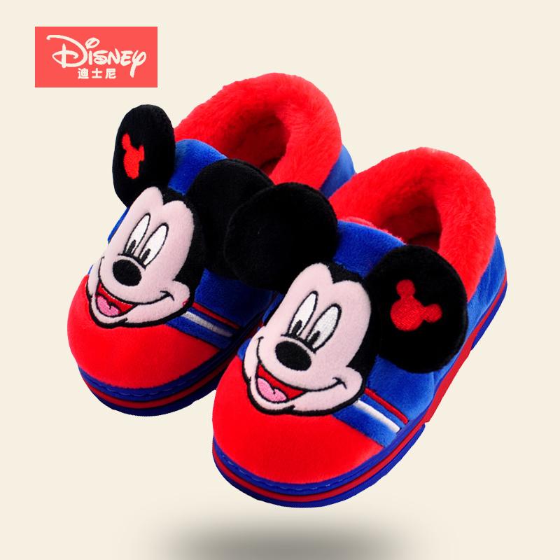 儿童棉拖鞋冬季女童1-3岁可爱小童女孩男孩室内包跟男童宝宝小孩2