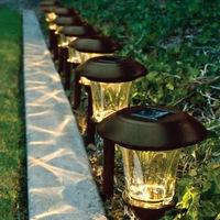 الرجعية في الهواء الطلق مصباح الجدار مصباح الطاقة الشمسية لوحة سداسية سياج فناء حديقة فيلا درج مصباح مصباح للماء