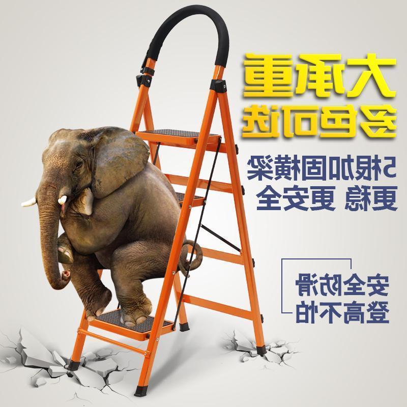 Tubos de acero de engrosamiento unilateral de escalera plegable multifunción de la contracción de la palabra proyecto escalera escalera de uso doméstico