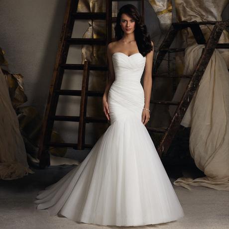 Новые Свадебные платья талии 2016 рыбий хвост длинные конечные свадьба груди полосный тонкий пакет хип пояса простая женщина