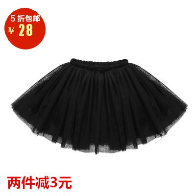女寶寶短裙秋鼕款1-3歲嬰兒裙百褶蓬蓬兒童公主裙4-9歲舞蹈半身裙