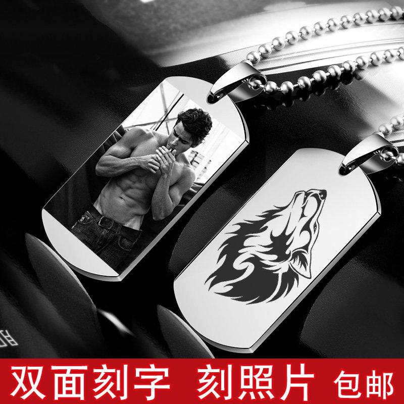 американских солдат армии бренд ожерелье украшения доминирования мужчин прилив вольфрам перечень кулон diy личности настройки цвета метка