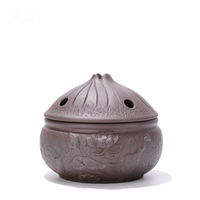 Sandalwood room, antique room, fragrant stove, living room, incense burner, incense stick, creative ceramic, sandalwood stove, horizontal dish, incense burner, purple sand