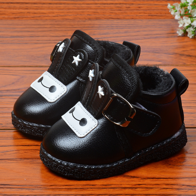 冬款宝宝棉鞋0-1-2岁儿童软底学步鞋男童鞋加绒加厚保暖女童棉靴