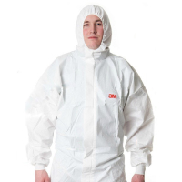 3M 4535 protective clothing with cap conjoined chemical protective clothing splash dustproof clothing
