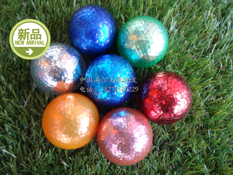The new golf ball golf ball metal plating 7 colors Golf factory new line