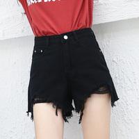 - agujero de jeans de mujer verano nuevo comodín de pesca la red de ancho de pierna suelta la estudiante Hot pants