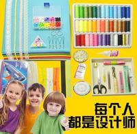 布艺 eszköz készlet / segédanyagok oktatóanyagok csomagot 30x30 diákok / nem weaver anyagok szokásos színű táskát kézzel dm