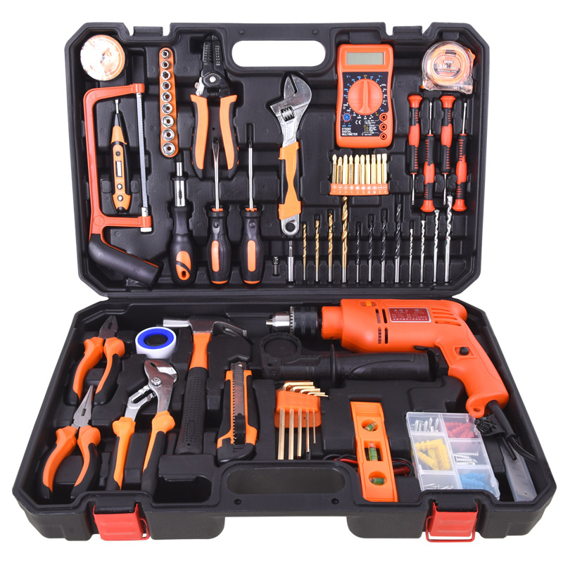 Germany imported three layer drill set multifunctional hardware tool box
