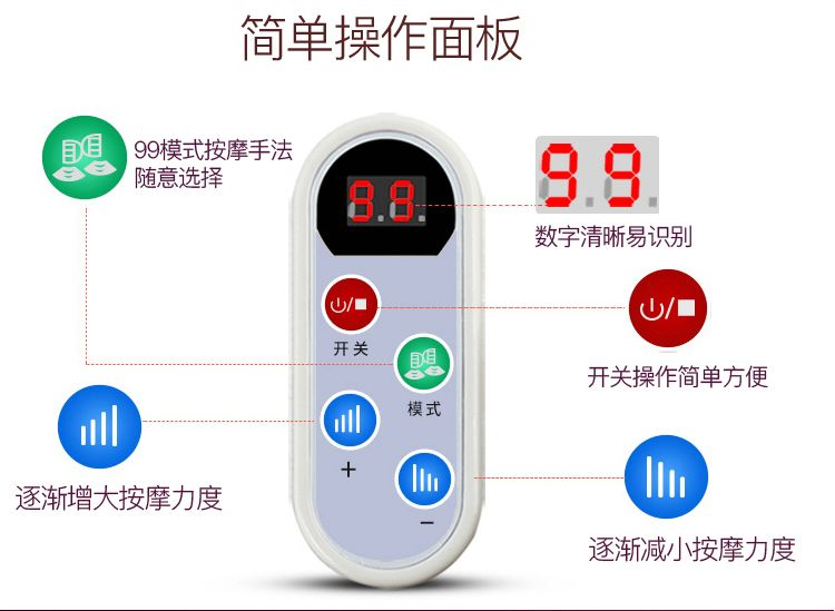 Massage hammer shawl elderly cervical waist back beat machine household electric instrument with week omitis