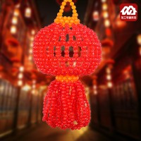 Japan buy DIY beads home, red auspicious lantern pendant material package, handicraft beads weaving jewelry factory