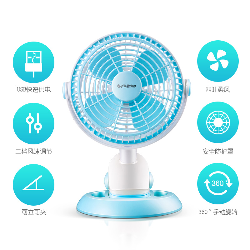 Vehicle mounted USB electric fan, big truck, 5V powerful large wind refrigeration, mini car for quiet car, automobile