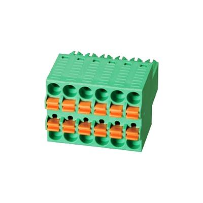 WJ/DG/KF2EDGKEH-3.5mm plug PCB terminal com Mola