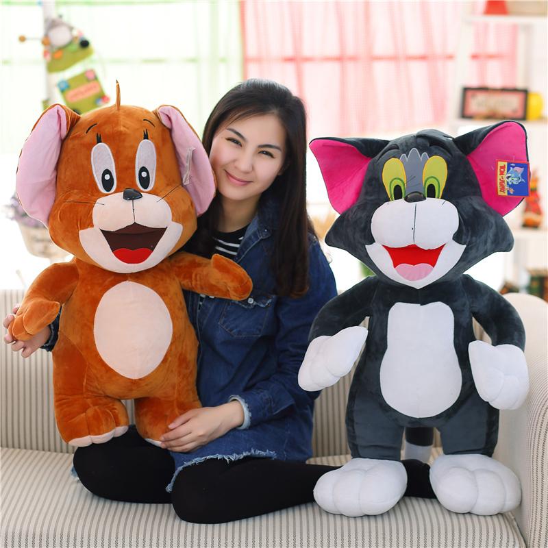 Η γάτα και το ποντίκι ωραίο παιχνίδι γάτα κούκλα κούκλα κούκλα για τα παιδιά. τα παιδιά ωραίο δώρο γενεθλίων.