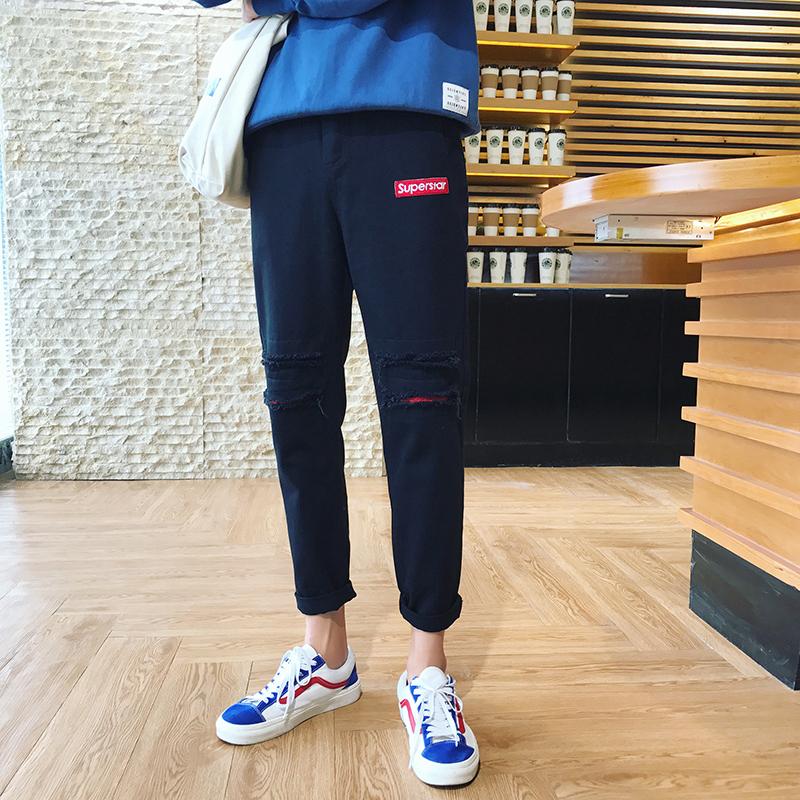 裤子男士冬季休闲裤修身韩版潮流小脚裤运动裤男裤bf风长裤哈伦裤