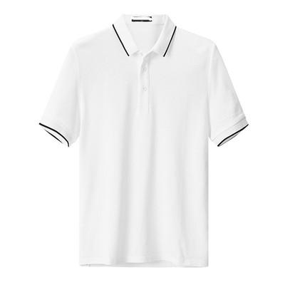 夏新款鸟牌男装白色纯棉网眼修身款时尚休闲短袖POLO衫