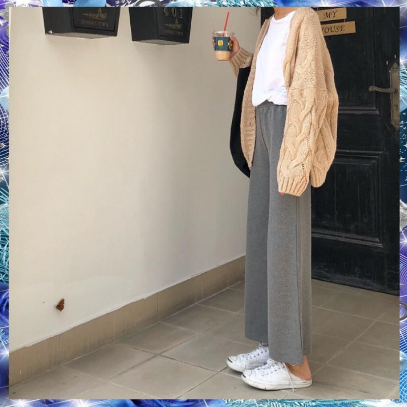 BIGKING Nini custom all-match Daikin elastic waist loose solid casual pants baggy pants Pendant