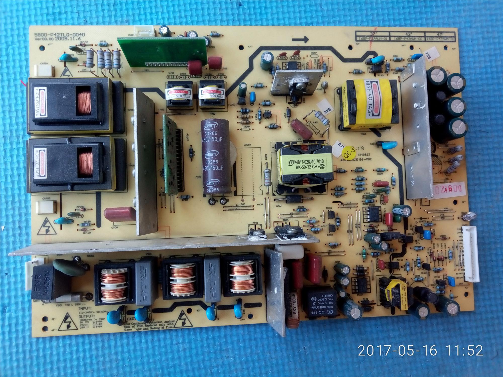 Skyworth 37L05HR/M11HM LCD - TV - Power Board 5800-P42TLQ-0040/0000 General