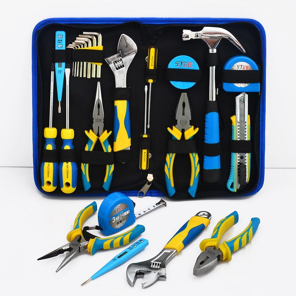 La Suite di UTENSILI domestici su Carpenter Multi - funzione Hardware Kit di attrezzi Elettrici di serie di UTENSILI a mano