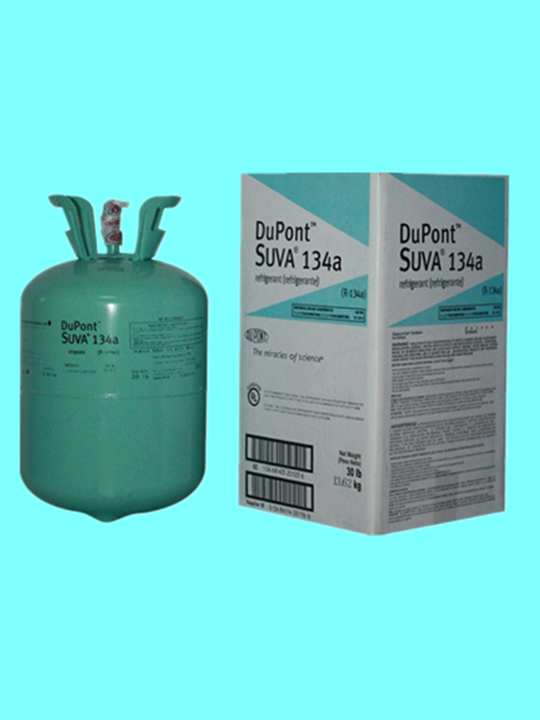 High purity DuPont R134A automotive air conditioning refrigerant R134a ice machine cooling snow type net weight 13.6KG