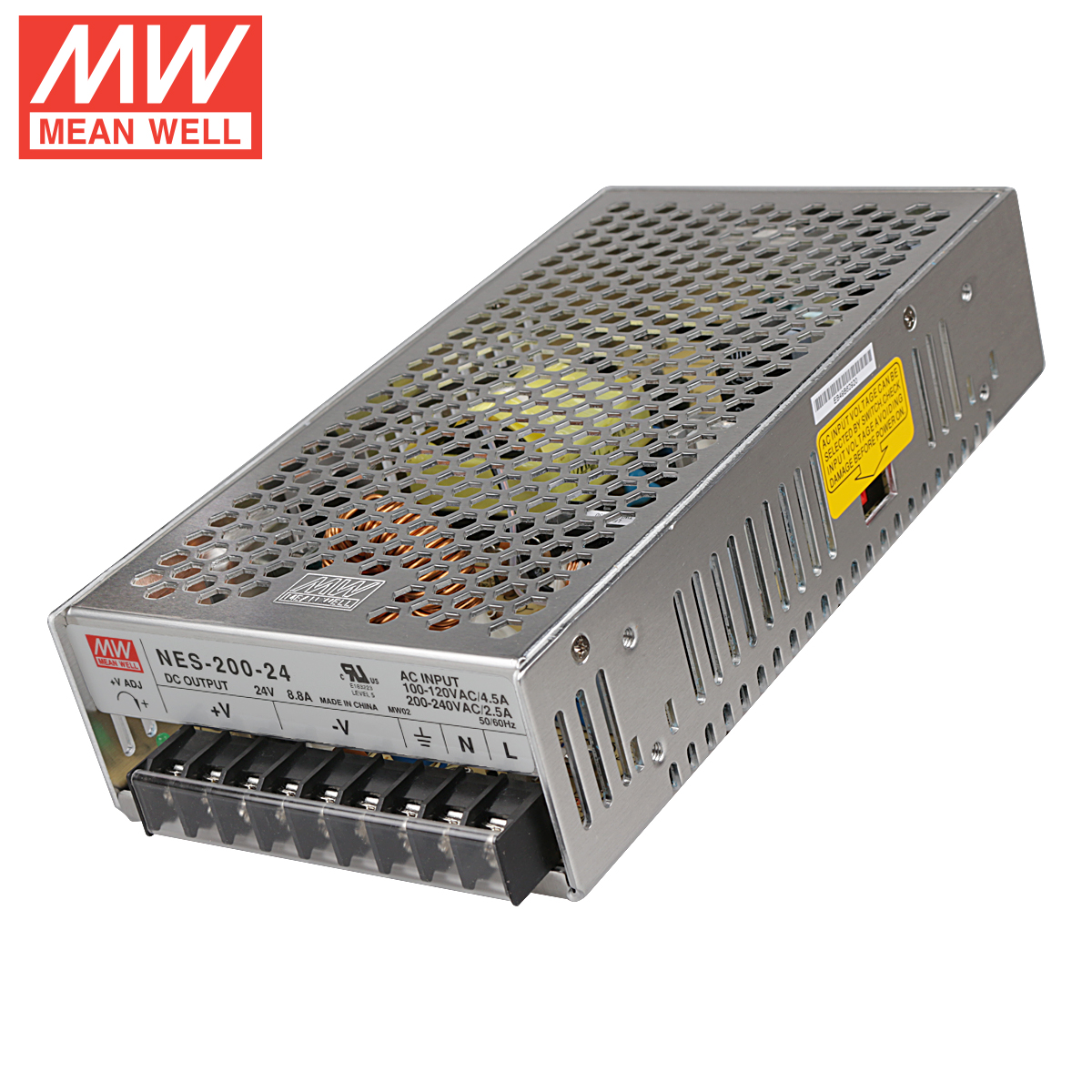 NES-200-24 200W24V8.8A πραγματική παροχή ενέργειας στην Ταϊβάν γουέι.