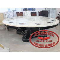 Yawei custom marble table chair table Hot pot smoke-free hotel with mini electric cooker Hot pot table