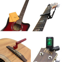 Guitar Accessories Set Clip-on Electric Guitar Tuner Capo Gu