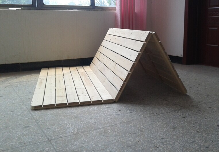 New Zealand pine wood folding bed tatami hard bedplate / bed / Wood / adult children bed can be customized