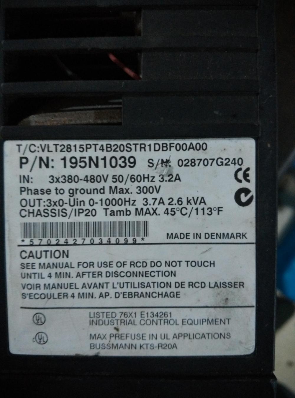 VLT2815PT4B20STR1.5kw8 Danfoss - 2800 - serie in neuen wechselrichter normale funktion