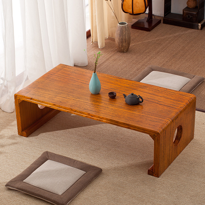 Coffee tea tea table thickening tatami wood table, bedside tea tables and chairs covered with minimalist classical combination