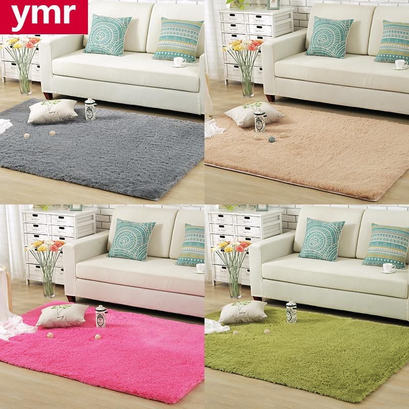 The new carpet mat bedroom bedside mat simple living room covered with rectangular table thickening silk wool cheap
