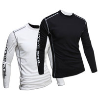 European Style Men's Long Sleeve Tights T-Shirt Quick-drying