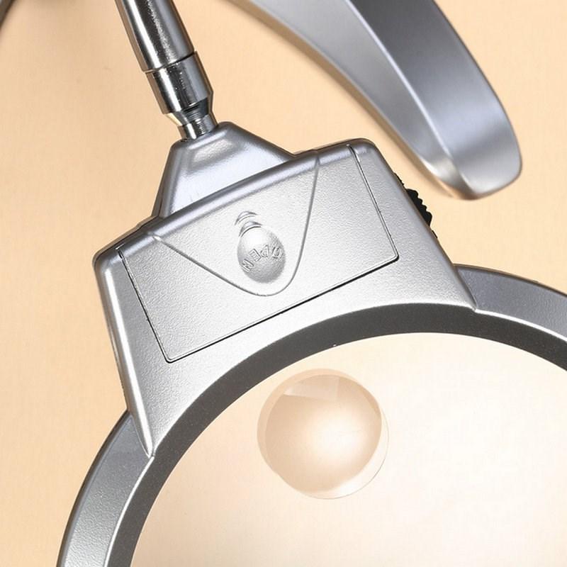 Lámpara de mesa con lupa de compresión de lectura 30 veces mayores de mantenimiento ampliación espejo alargado gran espejo de manguera de alta definición