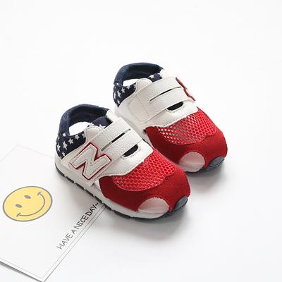 宝宝凉鞋学步鞋儿童凉鞋男童女童0-1-3岁2夏季防滑软底婴幼儿网鞋