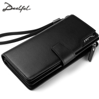 [handmade wallet, men's leather long, casual wallet, crazy retro DIY material package