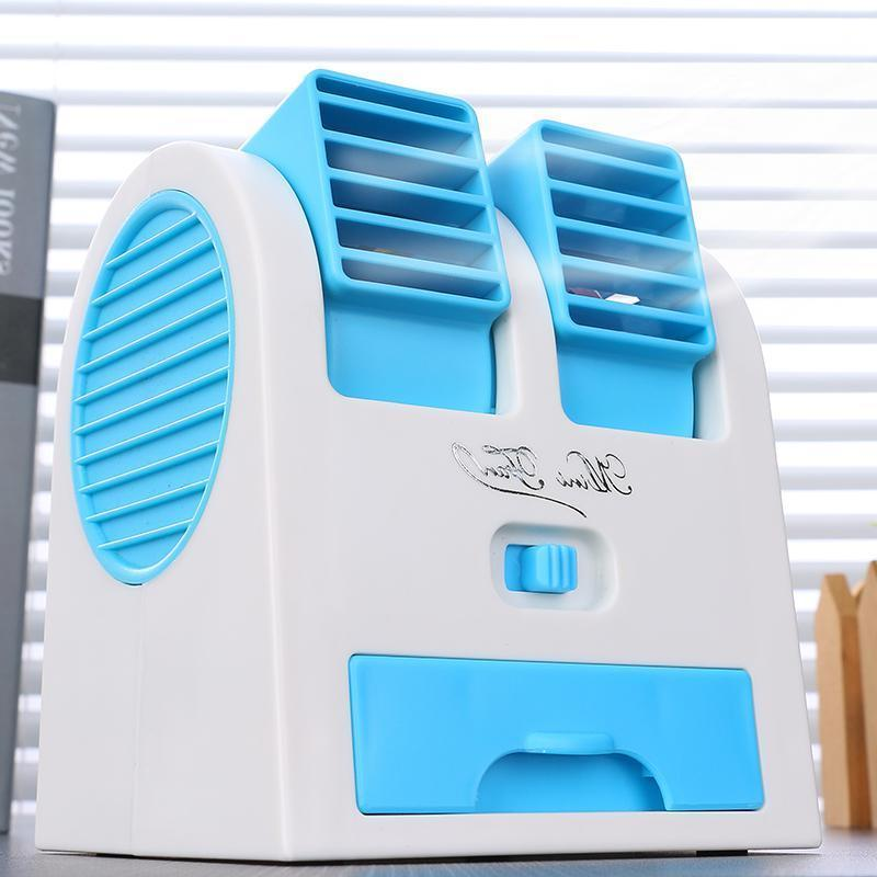 Mini electric fan dormitory cooling can be desktop small USB room charging pool desktop children's office air conditioner