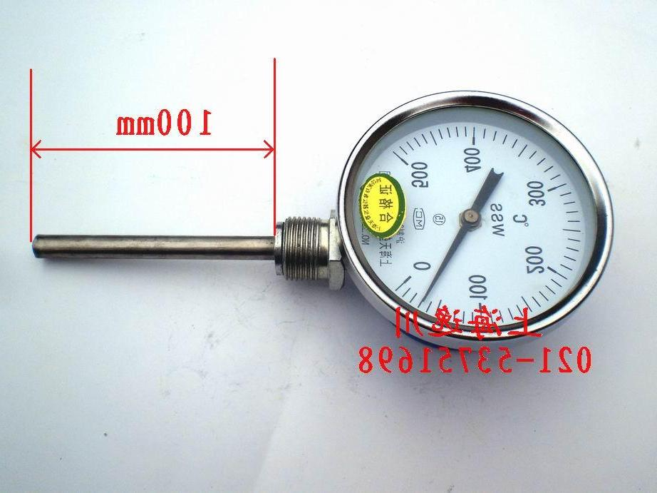 Bimetallic thermometer boiler thermometer water thermometer WSS4110-500 degree tail length 100mm