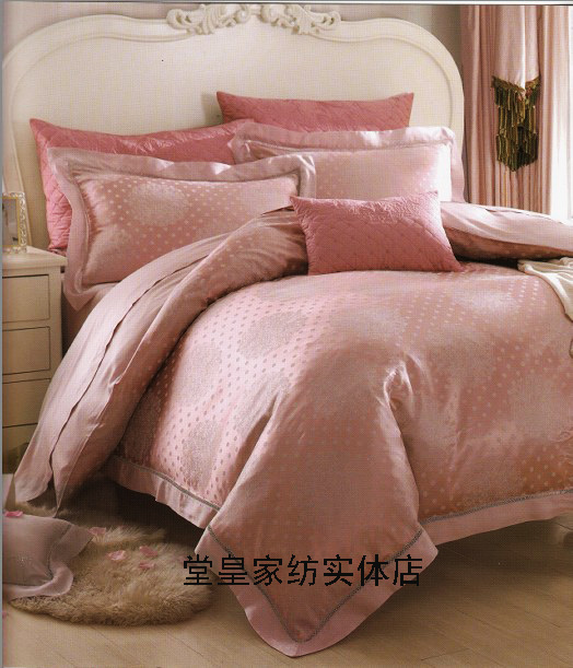 The stately home counter genuine four piece silk Tencel Luo 1.8 meters high-grade double bed Manxiang rhyme