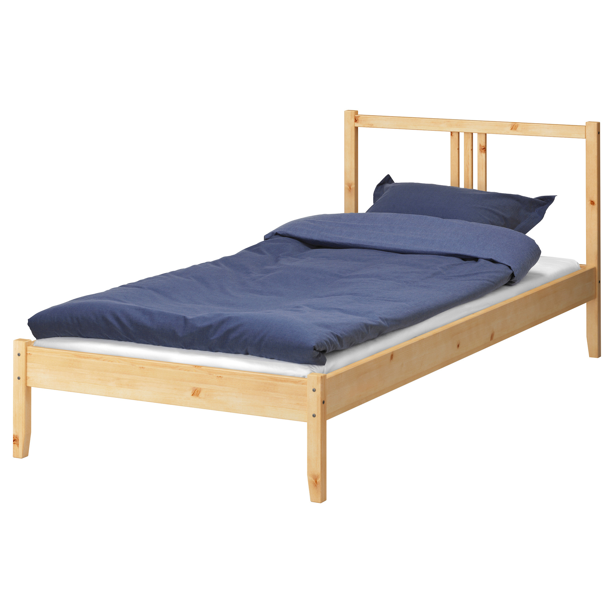 Shanghai IKEA IKEA premium wooden frame 90cm ozon wide and 2 meters long bedroom bed domestic purchasing