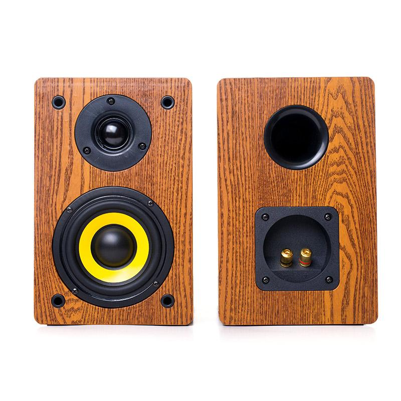 20174 inch high fidelity hifi passive bookshelf tabletop wooden sound box home classroom conference car CD voice 2