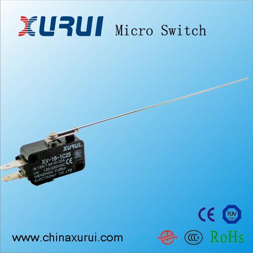 су, руй пролетта жица дълга дръжка микропревключвателя XV-15-F17 сребро за високо качество на производителите, преките контакти